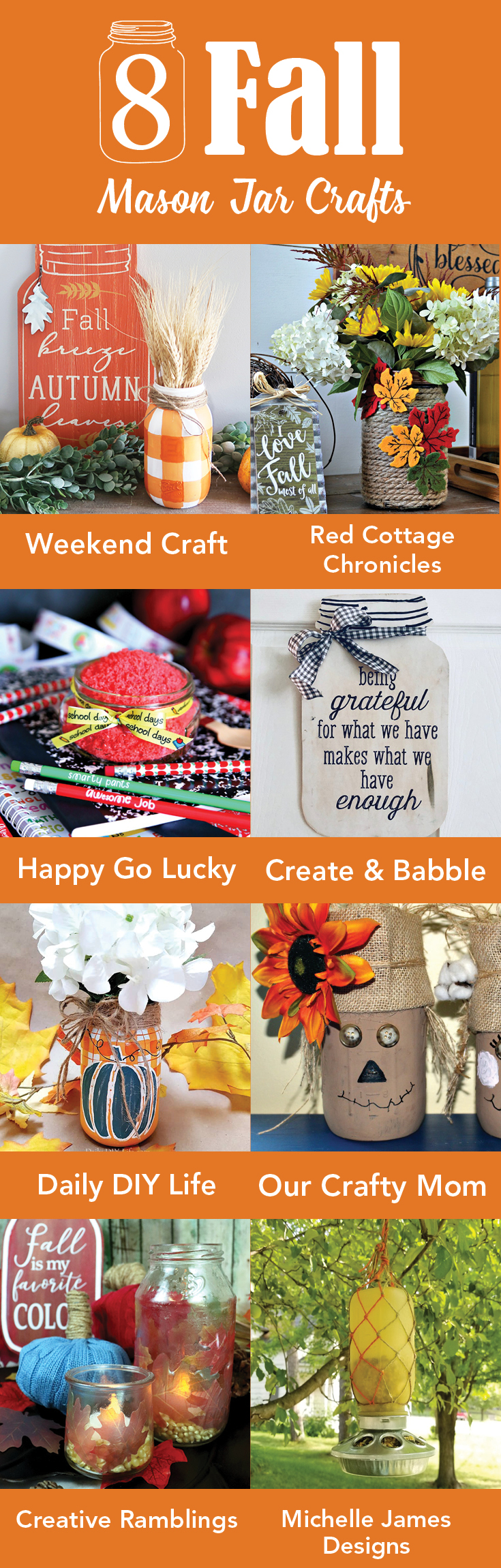 8 Fall Mason Jar Craft Ideas