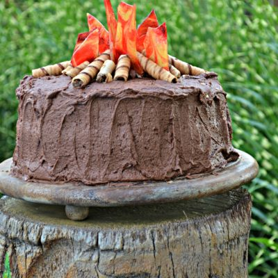 Closing Out Summer With A Campfire Cake