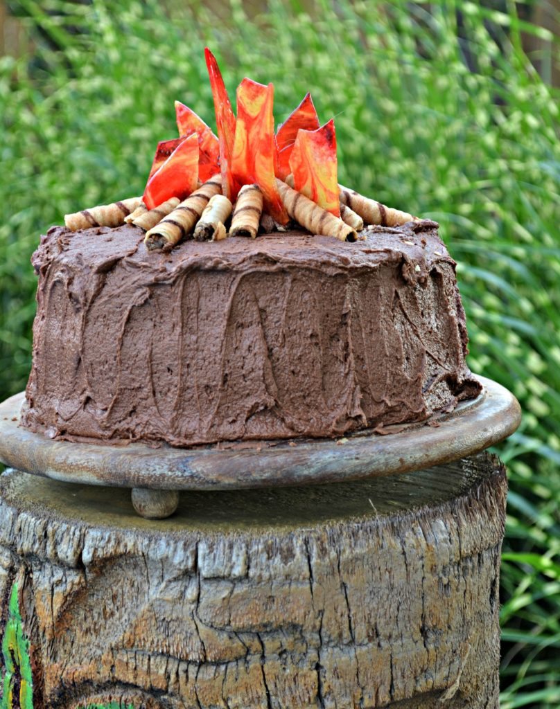 Remarkable Celebrate Summer With This Easy Chocolate Campfire Cake Birthday Cards Printable Nowaargucafe Filternl