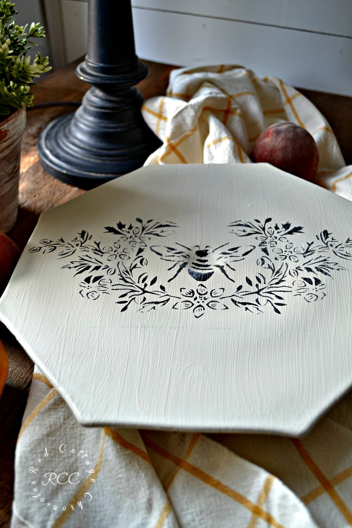 French Country Style Cake Plate Upcycle Project