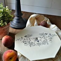 Thrift Store Upcycle Challenge - French Country Style Cake Plate
