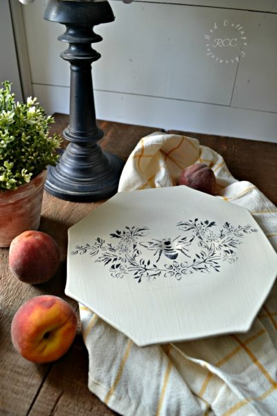 Thrift Store Upcycle Challenge – French Country Style Cake Plate