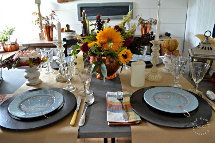 autumn tablescape blog hop
