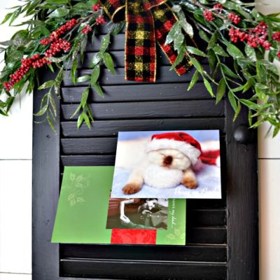 Festive DIY Christmas Card Holder