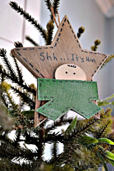 Wood DIY Christmas Ornament