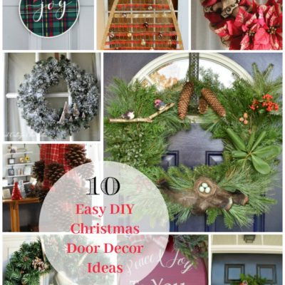 10 Easy DIY Christmas Door Decor Tutorials
