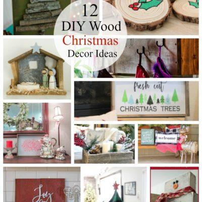 12 DIY Wood Christmas Decor Ideas
