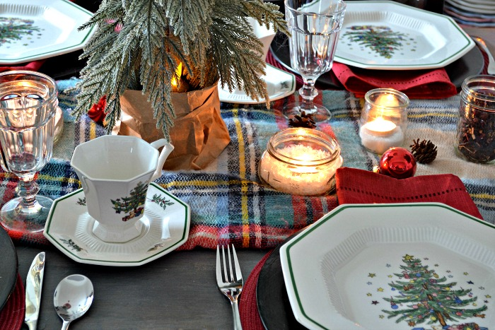 Winter Woodland Christmas Tablescape