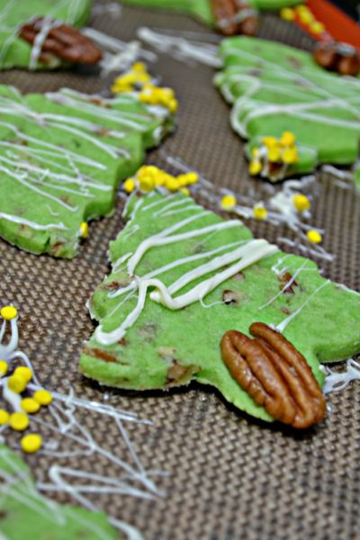 Pecan Shortbread Christmas Trees
