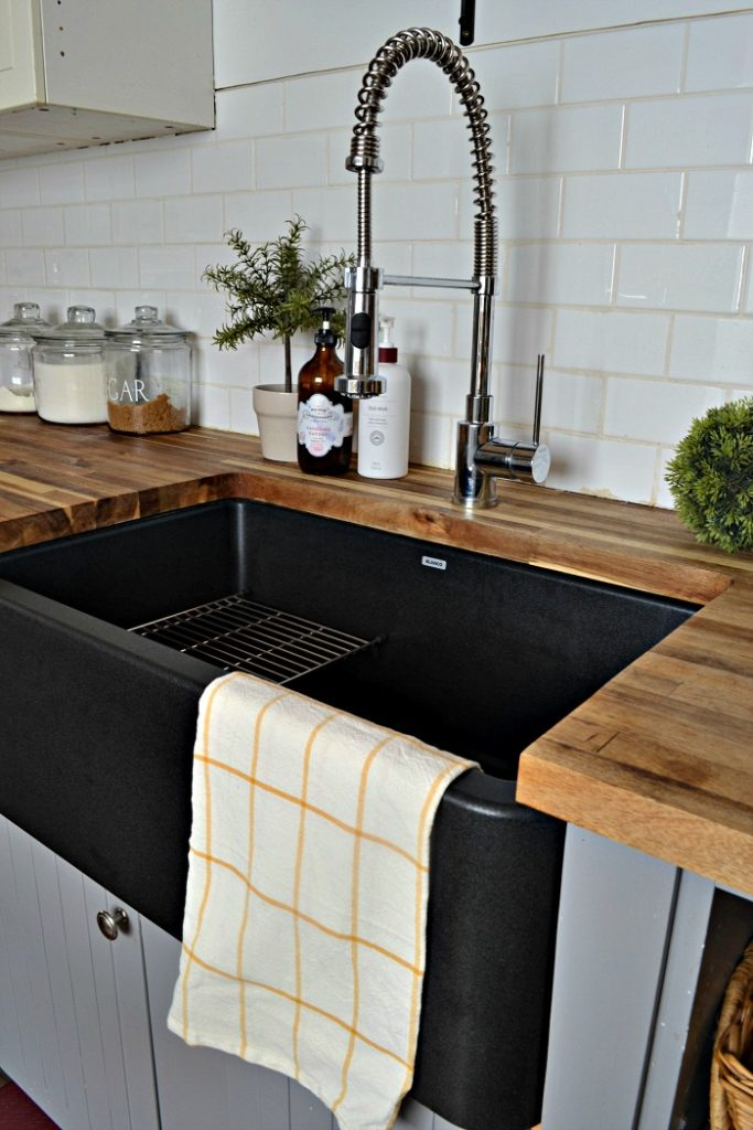 Our Black Farmhouse Sink Two Years Later Red Cottage Chronicles