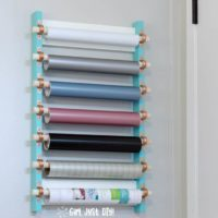 DIY Craft Vinyl Storage Rack
