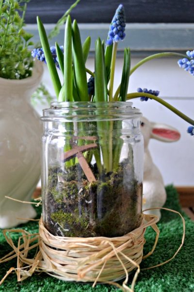 Mason Jar Terrarium for Easter