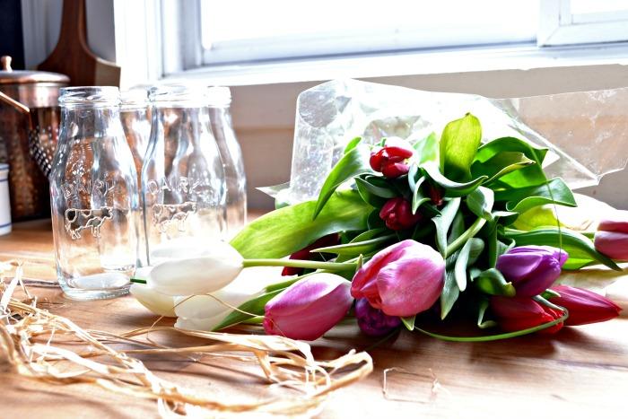spring tulip arrangements