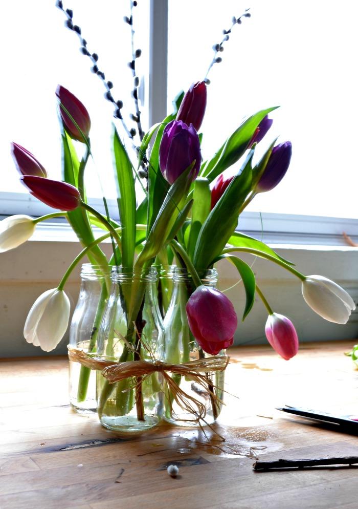 grocery store tulip arrangement
