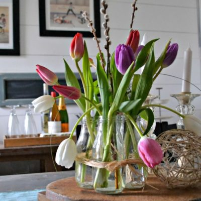 How to Arrange Grocery Store Tulips Farmhouse Style
