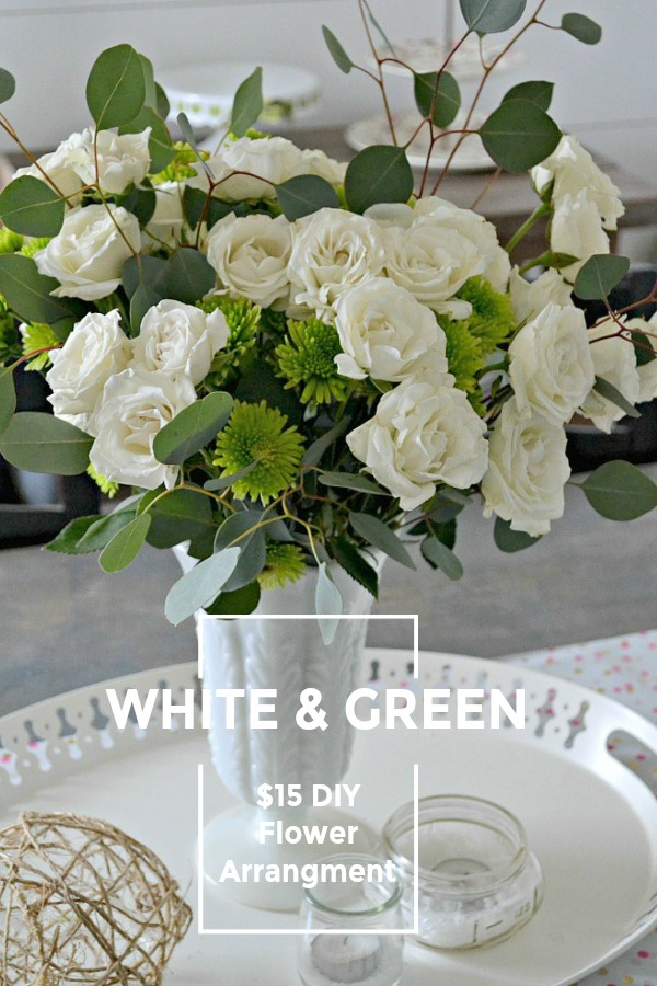 White and Green Flower Arrangement