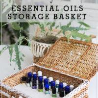 How to make an essential oils storage basket