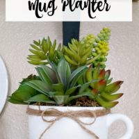 May Thrift Store Upcycle - Faux Succulent Mug Planter