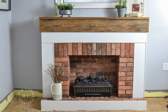 How to build a fireplace for an electric log insert