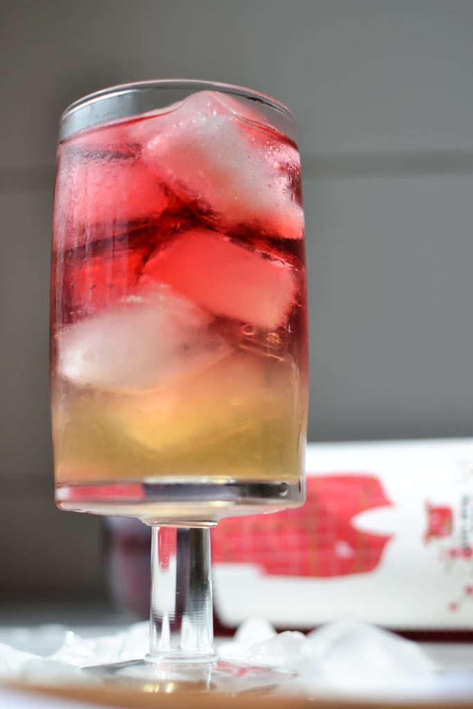 summer cocktails - a layered gin cocktail