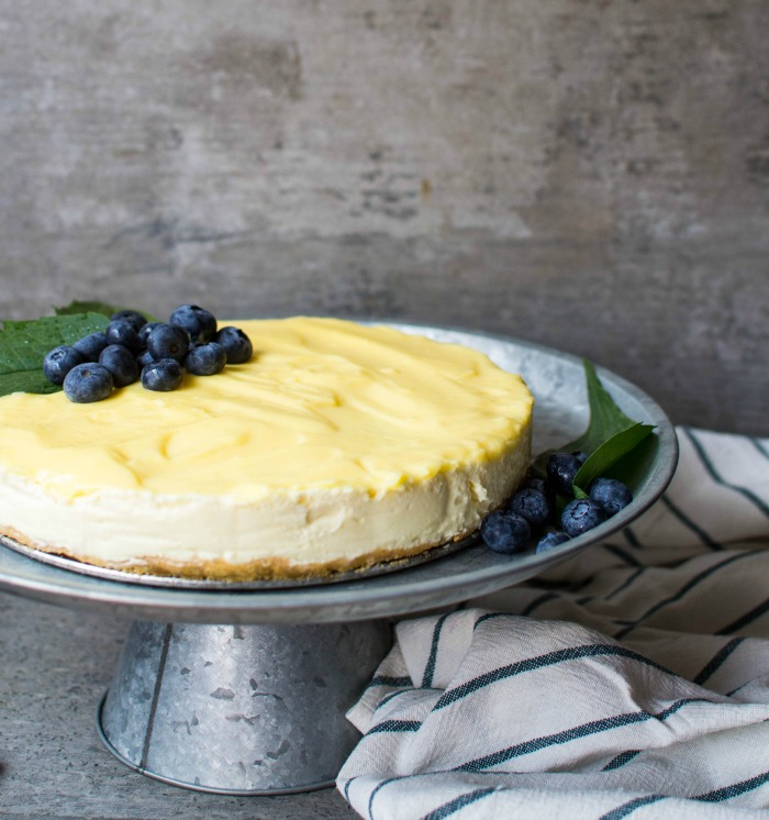 No bake lemon cheese made with mascarpone cheese and Philadelphia Cream Cheese