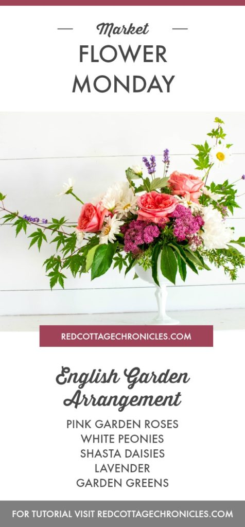 English country garden arrangement