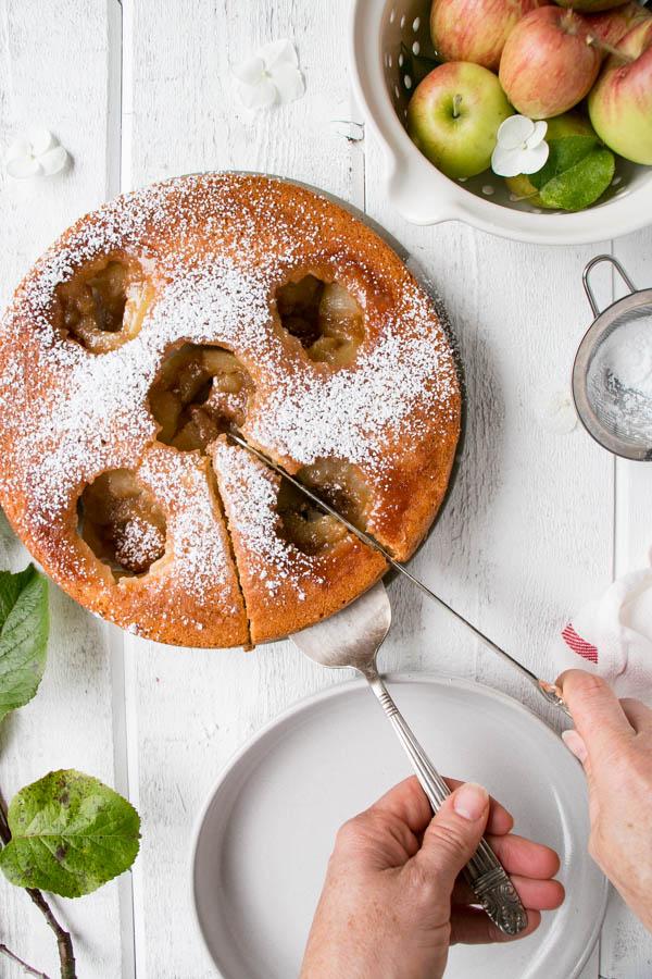 Bird's Nest Apple Caramel Cake