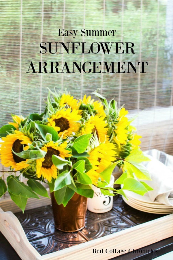 How to make sunflower arrangements with flowers from the grocery store