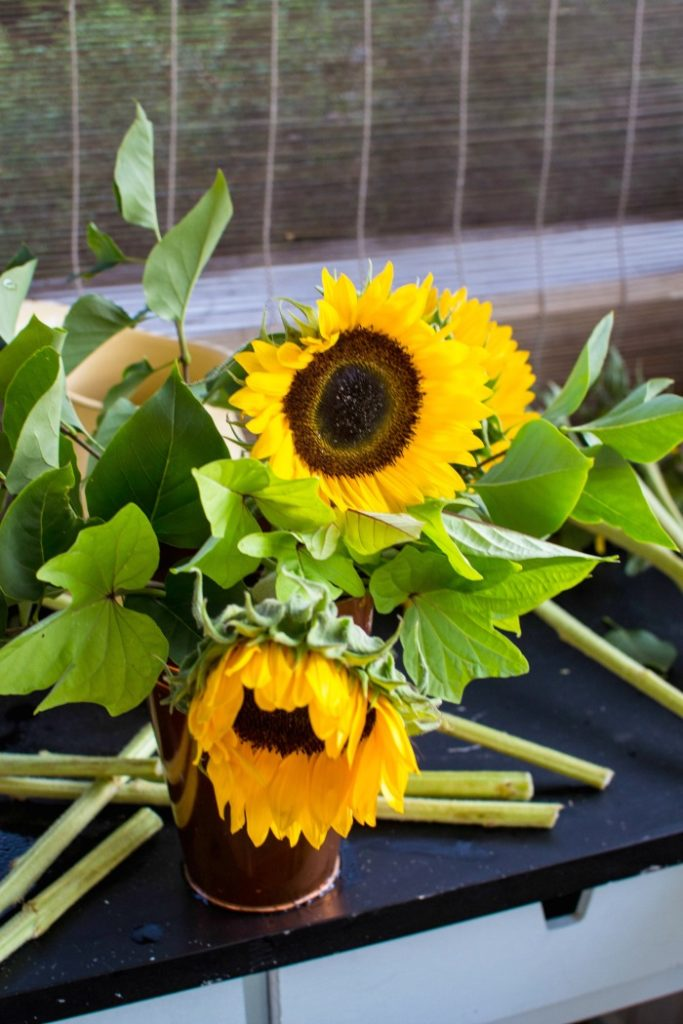 How to create beautiful sunflower arrangements with grocery store flowers