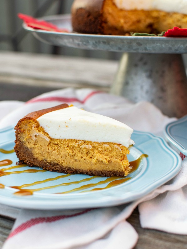 Marshmallow pumpkin cheesecake