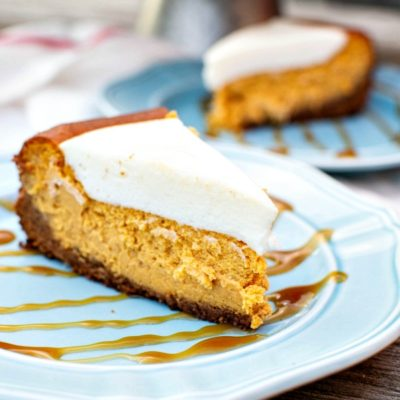 Marshmallow Pumpkin Cheesecake #PumpkinWeek