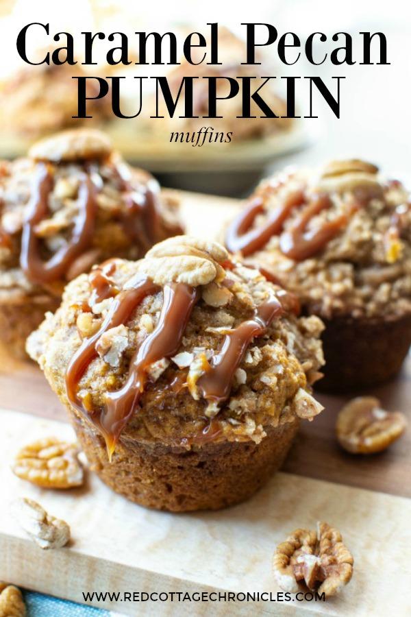caramel pecan pumpkin muffins