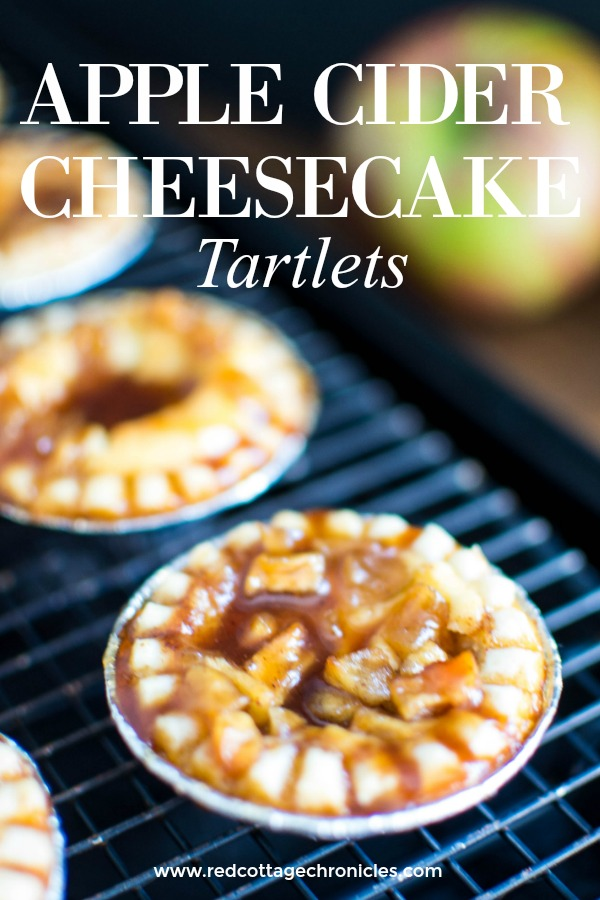apple cider cheesecake tartlets