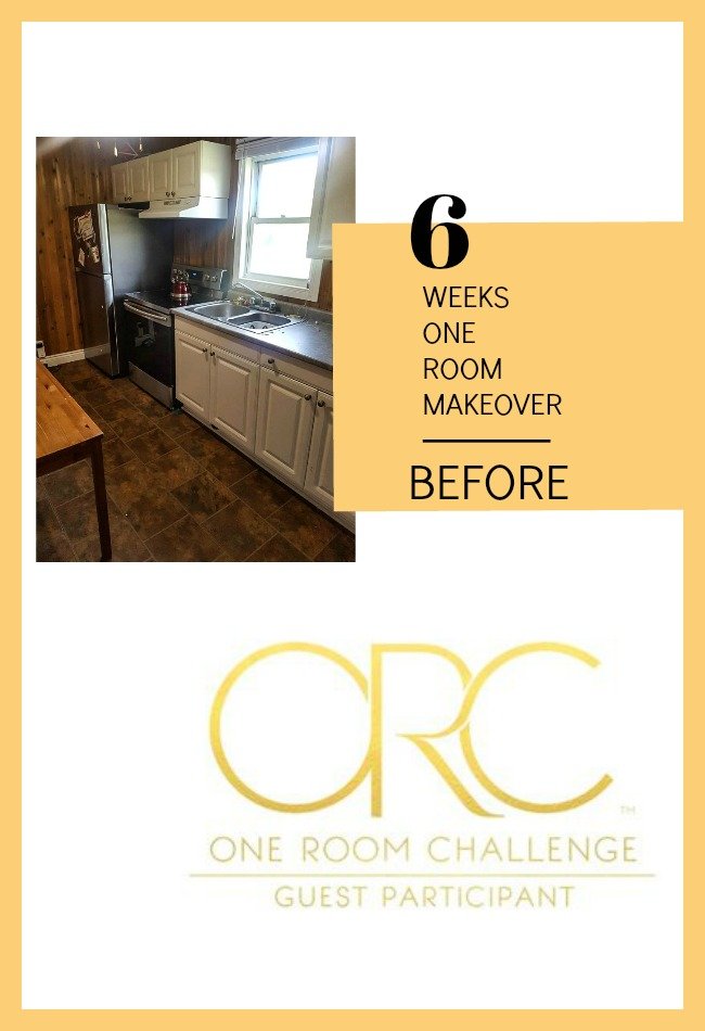 renovating a dated kitchen One Room Challenge
