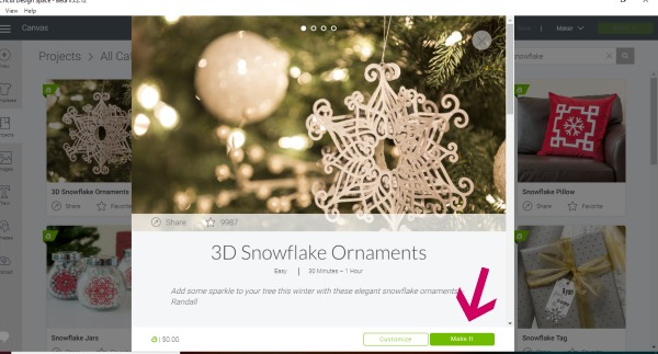 how to make a 3D snowflake with cricut maker