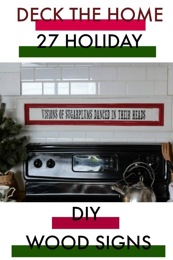 DIY Wood Christmas signs