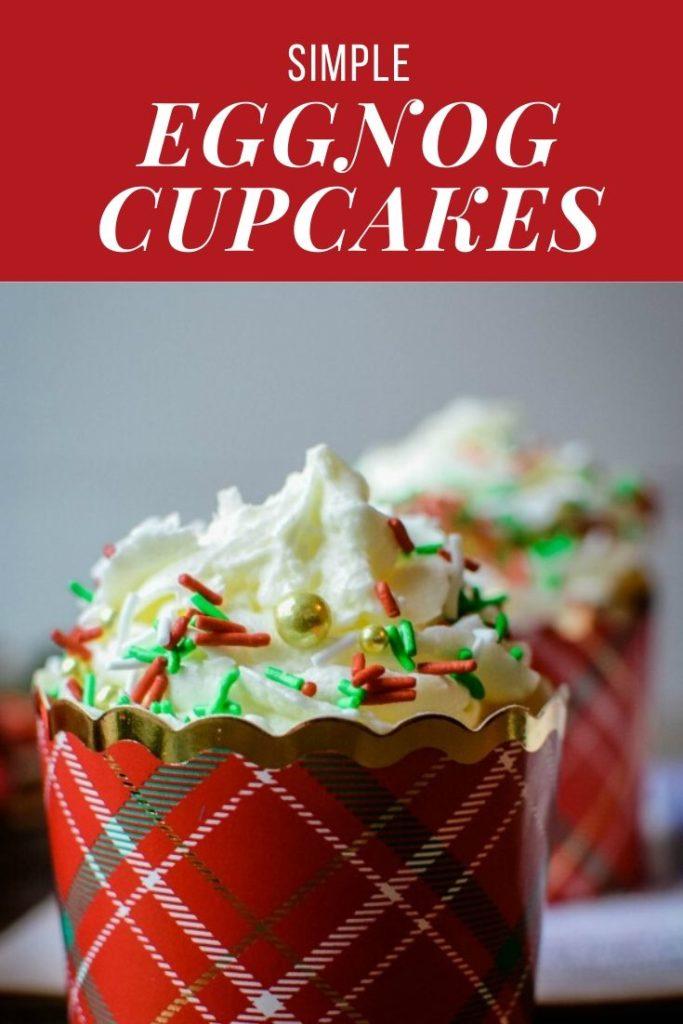 Simple Eggnog Cupcakes