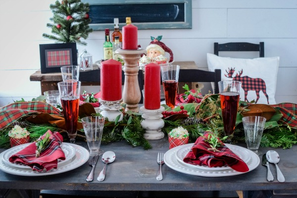 Mad for Plaid Christmas Tablescape