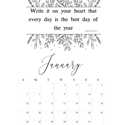 Happy New Year & A Free Printable