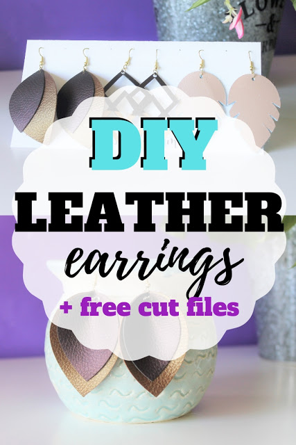 DIY Leather Earrings and Free Cut File