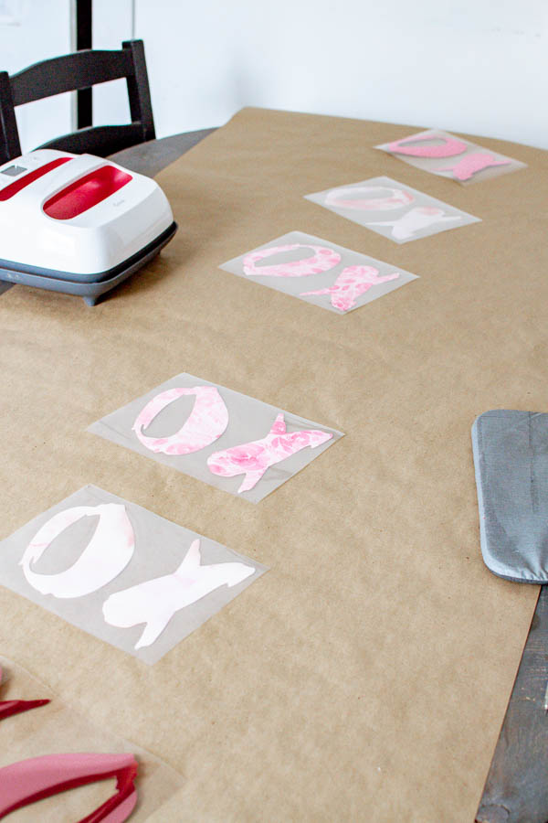 Cricut Valentine's Project for your dining table