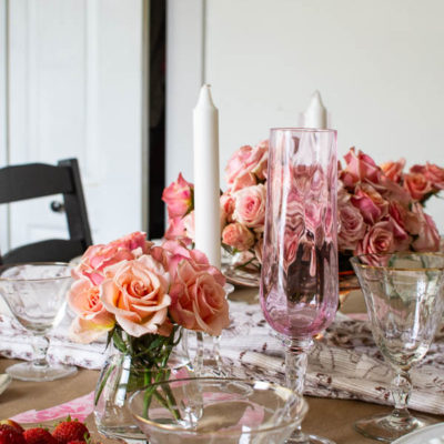 Pretty in Pink Valentine's Table Decor