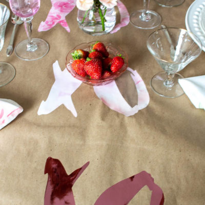 Easy Cricut Valentine's Day Project – Table Runner