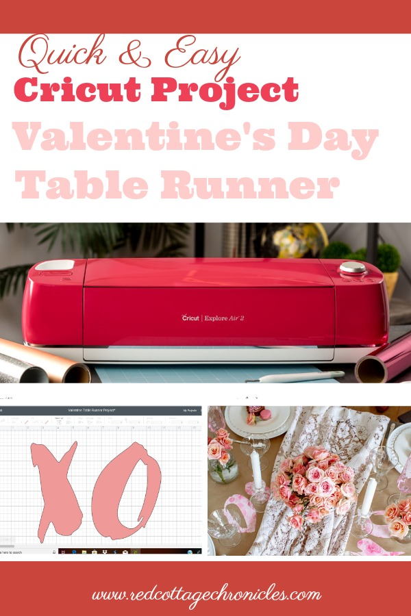 Cricut Valentine's Day Project Table Runner