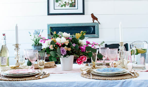 spring table decor ideas from 24 table styling bloggers!
