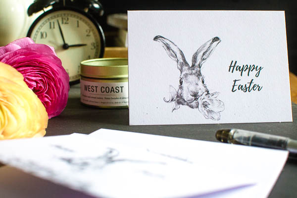 Free Easter Printable Card to send to family and friends
