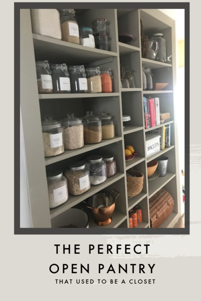Turn an unused closed into open pantry space
