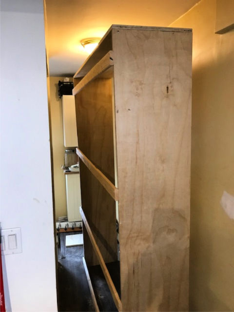 Converting a closet to an open pantry
