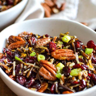 Pecan Cranberry Wild Rice