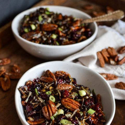 Pecan Cranberry Wild Rice Side Dish